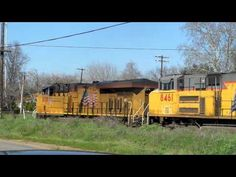 10 UP LOCOMOTIVES BEING SERVICED VIDEO