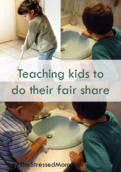 Teaching kids household responsibility...page has a good link to doing less laundry!