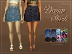Sims 4 CC's - The Best: Denim Skirt by trillyke