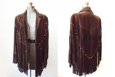 1970's Fringed Suede Pioneer Jacket  1970's by mamaleanne22