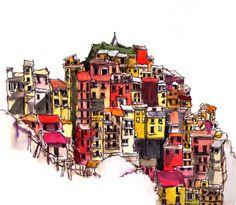 broken-crayon:  Cinque Terre by tom.tiddler on Flickr.