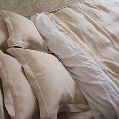 Hemstitched Bed Linen Set Platinum #bedlinen #linenduvet #linenpillow
