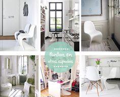 La silla Panton, creada en los años 60, resulta hoy en día la mar de moderna para decorar. Para muestra... este post.