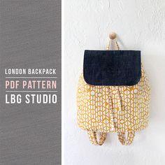 London Backpack  PDF Sewing Pattern by LBGstudio on Etsy