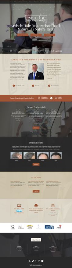 Responsive Hair Restoration Web Design with Video Background