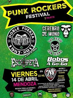 Doble Fuerza en Mendoza ! //N8 Viernes 14 de ABRIL-22hs DOBLE FUERZA #tour30años  -Cerebro de mono -Yetis con Jean -Bobos a Go-Go -Escopeta  en: N8 Estudio-Mitre y Godoy Cruz-Mendo... http://sientemendoza.com/event/doble-fuerza-en-mendoza-n8/