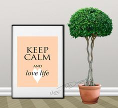Keep Calm and love digital download Wall by MagicPrintDesigns