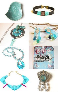 Turquoise and Aqua by Faye on Etsy--Pinned with TreasuryPin.com