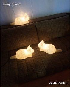 Crazy Cat Lady, Crazy Cats, Cool Cats, Cat Art, Lamp Light, Lights, Cool Stuff, Interiors, Candles