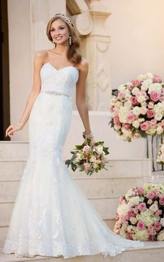 6272 Fit and Flare Wedding Dress with Sweetheart Neckline by Stella York