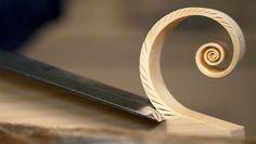 Прекрасное удовлетворяющее видео создания стружки в виде спиралей Фибоначчи. — Vinegret