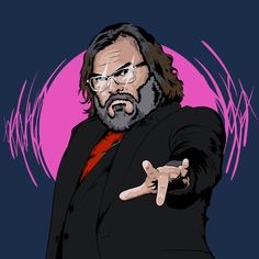 Made #jackblack #adobe #portrait #actor