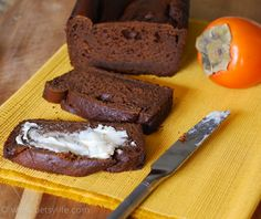 Persimmon Gingerbread Recipe-I think 1 1/2 c. persimmon is too much pulp; my bread was not set after 1 1/2 hrs, but it has a great taste. HENRIETTE  11-20-13