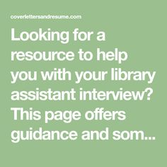 library assistant interview questions