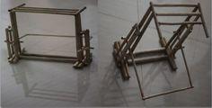 "My engineering..! ""Jute stick PROTOTYPE of flexible sari display panel for photography"""