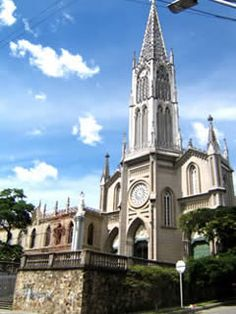One of the many beautiful churches in Medellin, Colombia ( La Iglesia de Manrique El Senor de las Misericordias)
