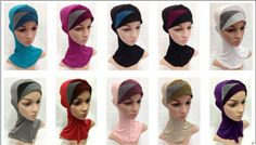 Muslim Islamic Hijab Modal Crossover Inner Caps Sport Hats Underscarf