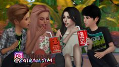 Double Date. ❤ This pose pack including 2 poses. Sibling Poses, Newborn Poses, Kid Poses, Sims 4 Couple Poses, Couple Posing, Couple Shoot, Sims 4 Body Mods, Sims Mods, Sims 4 Children