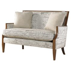 Give your den, master suite, or home office a studied air with this beautifully crafted design.   Product: LoveseatCo...