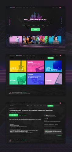 """A really creative """"The Pirate Bay"""" web design concept. Long live The Pirate Bay!  Need a website? Visit the Fat Panda at our website! https://www.FatPandaDesign.com"""