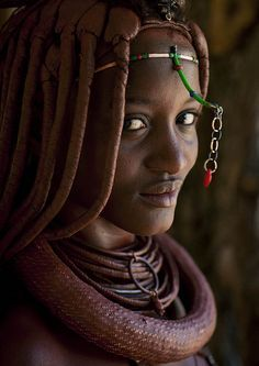 woman from himba tribe, angola.