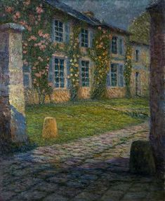 ❀ Blooming Brushwork ❀ - garden and still life flower paintings - House with Roses | Henri Le Sidaner