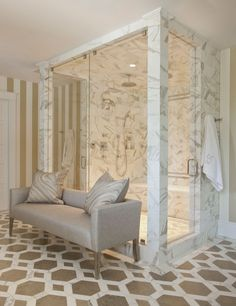 <p>From elegant marble-clad floors to sparkling chandeliers, you'll get decorating and design ideas here that will help your master bath pamper you in style</p>