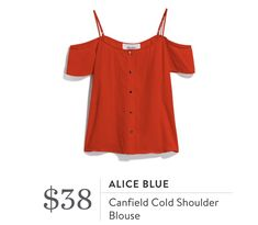 Alice Blue Canfield Cold Shoulder Blouse from Stitch Fix