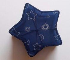 e326f24195e9 Blue Star Shape Trinket Large Jewelry Box with Glitter Star Moon Sun design