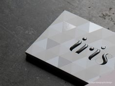 Iris business cards (Spot UV) by paperview design