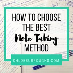 How to Choose the Best Note Taking Method crop