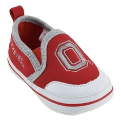 Ohio State Buckeyes Crib Shoes - Baby, Infant Unisex, Size: 3-6 Months, Red