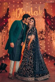 Picture from Palak & Dhruv Photo Gallery on WedMeGood. Browse more such photos & get inspiration for your wedding Engagement Dress For Groom, Couple Wedding Dress, Wedding Dresses Men Indian, Groom Wedding Dress, Indian Bridal Outfits, Indian Bridal Fashion, Engagement Dresses, Bridal Dresses, Engagement Lehnga