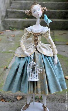 """Авторская кукла """"Мечты о Синей птице"""". Handmade.:"""