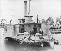 Steamboat Conversions of the Civil War  USS Commodore Perry, Note the heavy canon