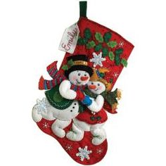 @Overstock - BUCILLA-Felt Stocking Kit: Snowflake Snuggle. Make a cute stocking that is sure to get filled up with this kit. Everything you need to make one stocking is included: stamped felts; floss; sequins and beads; needles and directions for personalization.http://www.overstock.com/Crafts-Sewing/Snowflake-Snuggle-Stocking-Felt-Applique-Kit-18-Long/6793121/product.html?CID=214117 $19.99