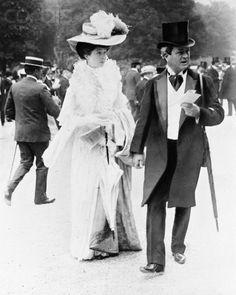 Consuelo Vanderbilt | W.K. Vanderbilt adored his daughter, Consuelo, Duchess of Marlborough. Here they are at the races in Paris.