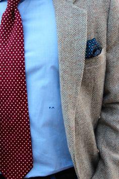 Pink ribbon monogram on a custom men 39 s dress shirt real for Dress shirt monogram placement