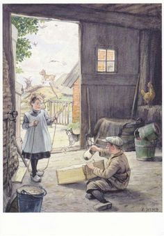 Cornelis Jetses Vintage Pictures, Cool Pictures, Holland, Vintage Book Art, Vintage Illustration, Dutch Artists, The Old Days, Historical Pictures, Illustrators