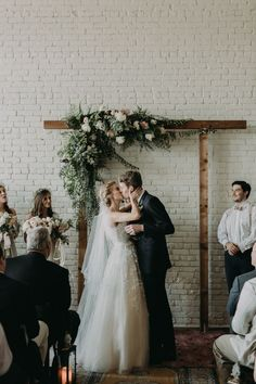 Diggin' the romantic industrial vibes in this sweet wedding ceremony | Image by Grant Daniels Photography