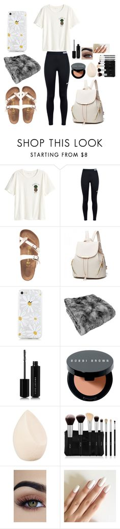 """""""Day 7: Flying Home 🏡"""" by look-in-the-clouds ❤ liked on Polyvore featuring H&M, NIKE, Birkenstock, Marc Jacobs, Bobbi Brown Cosmetics, Christian Dior and macks2k17summacontest"""