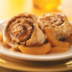 30 Recipes to Make with Fresh Peaches - Bring a real taste of summer to your table with these fresh peach recipes, from down-home desserts like peach pie and cobbler to fresh takes on classic favorites like peach salsa and pork tenderloin. Gourmet Meals, Gourmet Recipes, Dessert Recipes, Cinnamon Biscuits, Cinnamon Rolls, Fresh Peach Recipes, Recipes Using Fruit, Peach Salsa, Deserts
