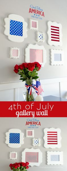 Love this patriotic 4th of July Gallery wall decor!