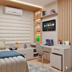 Study Room Design, Home Room Design, Kids Room Design, Home Office Design, Bedroom Decor For Small Rooms, Kids Bedroom, Room Partition Designs, Cool Kids Rooms, Dream Rooms