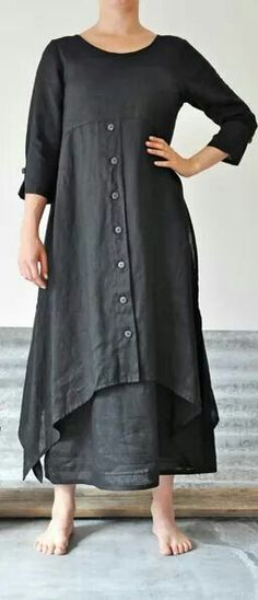 Lagenlook charcoal linen dress and skirt Look Fashion, Womens Fashion, Fashion Design, Trendy Fashion, Fashion Clothes, Plus Size Fashion, Mode Hippie, Diy Kleidung, Estilo Hippie