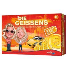 Die ereignisreichen Episoden aus dem Leben der schrecklich glamourösen Familie Geiss - bekannt aus der gleichnamigen TV-Serie bei RTLII - lassen sich auf einer spannenden Reise nun per Gesellschaftsspiel nacherleben.    http://www.mytoys.de/Noris-Die-GEISSENS-Das-Spiel/KID/de-mt.gp.ne01/2422862