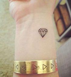 Tattoo De Diamante Para Mujer