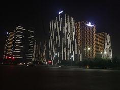 outdoor media facade lighting from litematrix