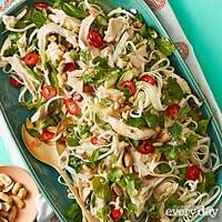 """Asian herb salad Swap fish sauce with soy sauce and vegetable broth. Use fake """"chickin"""""""