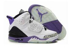 Nike Air Jordans 21(XXI) Son Of Mars Shoes White Purple Back
